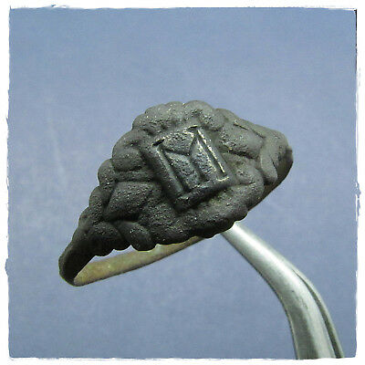 ** M **  beautiful  BRONZE ancient  BYZANTINE ring !!!