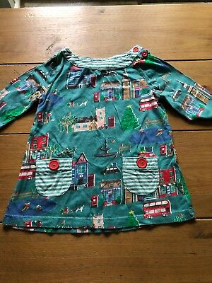 Girls Mini Boden Christmas Tunic Age 3-4 Years Excellent Condition