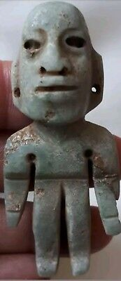 Pre-Columbian Olmec Jade figure from Mexico. CA. 400 bc.2.75 inches