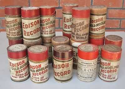 20 X Edison Gold Moulded Phonograph cylinder record , various titles  Lot B