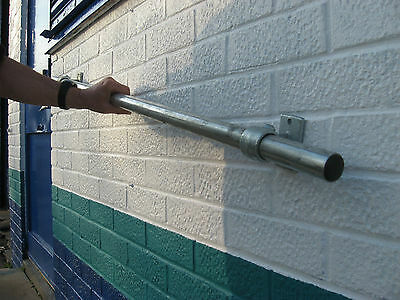 42mm  Hand Railing Kit Wall Mounted Grab Rail  Galvanized Tube X1.2 meter Long