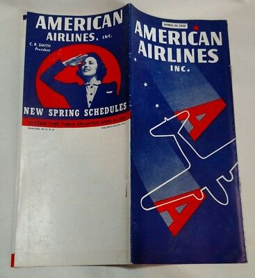 American Airlines Timetable 1938