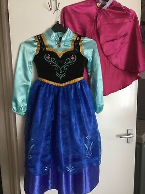 Girls Anna From Frozen Dressing Up Outfit -age 7/8 By Disney Store