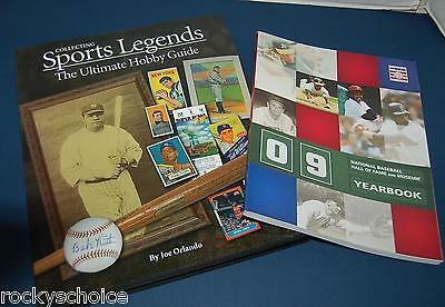 1 copy Sports Legends Collecting & 2003 2009 HOF yearbooks Baseball Football ++