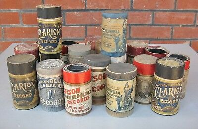 20 X various brand Moulded Phonograph cylinder records - various boxes Lot E