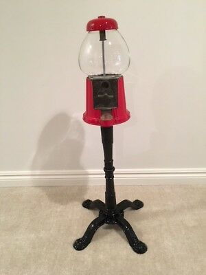 Carousel Gumball Candy Gum Vending Machine with Cast Metal Stand Base