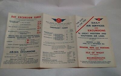 Great Western and  Southern Air Lines Timetable 1939