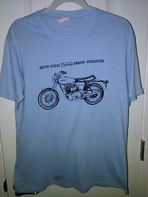 RARE 1970's Vintage NORTON MOTORCYCLE United States Owners Association Shirt
