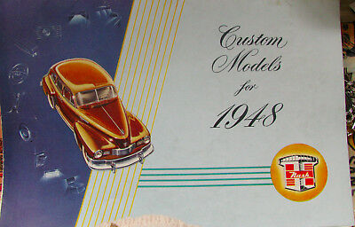 *REDUCED**Original 1948 Nash Custom Models Color Dealer Sales Brochure