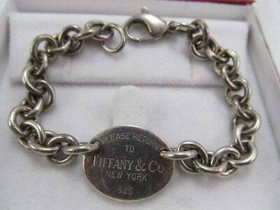 Tiffany & Co Sterling Silver Heavy Chain Bracelet V Good Cond
