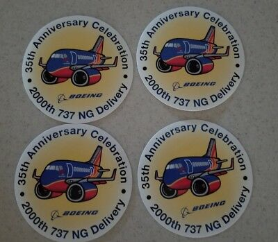 Southwest Airlines 200th Boeing 737 NG delivery stickers