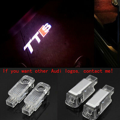 4X Audi TTS 3D Logo LED Laser Projector Door Welcome Ghost Courtesy Shadow Light