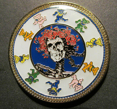 Grateful Dead Coin Steal Your Face Skull Roses Dancing Bear Collect