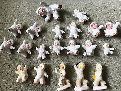 Lot of 20 Vintage Bisque SNOW BABY BABIES Germany & Japan?
