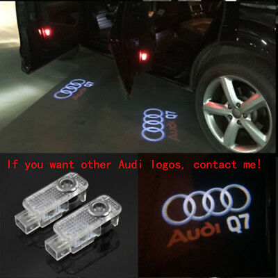 4X Audi Q7 3D Logo LED Laser Projector Door Welcome Ghost Courtesy Shadow Lights