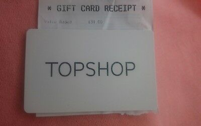 Top Shop £31 Gift card Issued August 2018 New and unscratched