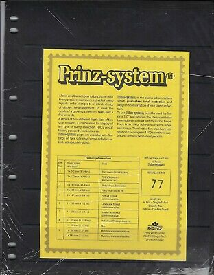 """Prinz (Hagner-style) Double-side B77 Stock Sheets 7 pocket (8½""""x11"""") -Pkg of 10"""