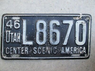 1946 single year issue plate, original condition
