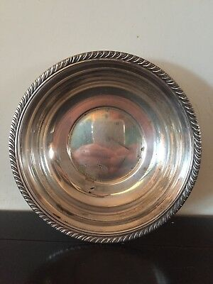 """Vintage FB Rogers Silver Co Bowl, Silver on Copper 1028, 6 1/8"""" x 1 1/4"""""""