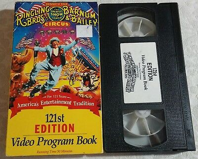 Ringling Brothers Barnum & Bailey Circus VHS Video 121st Edition Program Book