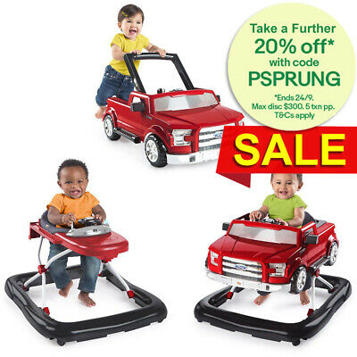 Bright Starts Ford F150 Walker w/Activity Toy/Truck Push Handle for Baby/Toddler