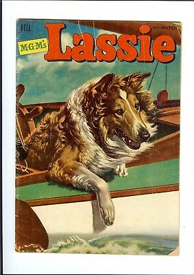 LASSIE #9 1952 DELL GOLDEN AGE MGM MOVIE TV Horns In GD+
