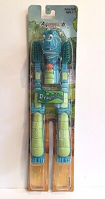 Dragon Tales ORD Toothbrush 2-Pack Aquafresh Extra Soft Flexible Neck 2004