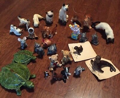Lot Of Miniatures Japan Bug House Porcelain Animal Figurines Glass And Others!