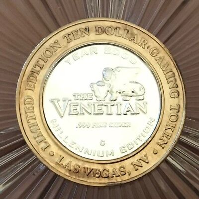 Limited Edition Ten Dollar Gaming Token -The Venetian - 999 Fine Silver