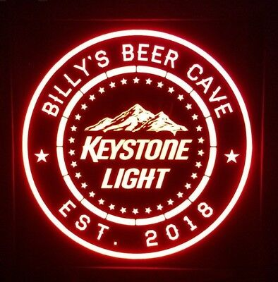 Personalized keystone light 12 x 12 Multi color LED Sign led box with remote
