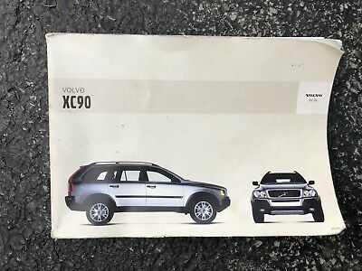 2004 volvo xc90 owners manual guide book 16 02 picclick rh picclick com 2004 volvo xc90 owners manual 2004 Volvo XC90 Specifications
