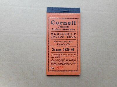 Vintage 1929 - 30 Cornell University Athletic Coupon Book