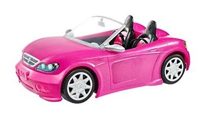 Pink Barbie Car Glam Convertible Two Seater Glitter Toy Vehicle Ride Sparkly NEW