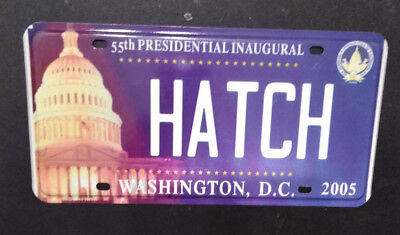 2005 District Of Columbia Bush Hatch Inaugural License Plate