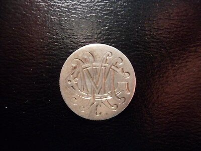 Love Token ** 'm' 'm' 'g' ** On Nicely-Toned 1888 Seated Liberty Dime