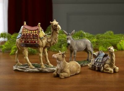 """Set Of 4 Animals For The 7"""" Real Life Nativity"""