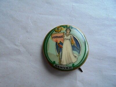 Vintage A T Lewis & Sons Dry Goods Denver Advertising Pinback Button
