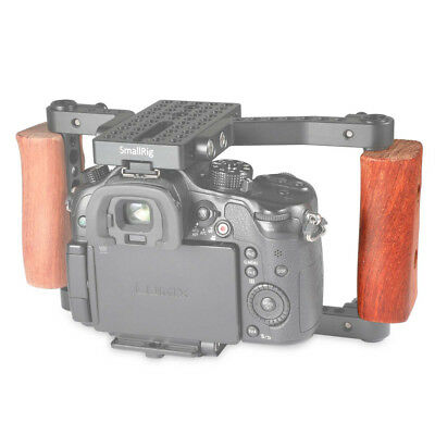 SmallRig Wooden Handle Hand Grip Right two 1/4'' screws For DSLR Cage 1747