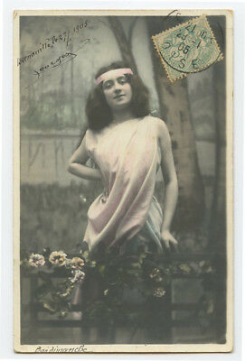 c 1904 French Risque n/ Nude SHAPELY BEAUTY undivided back photo postcard