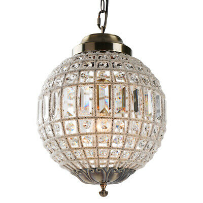 Single Crystal Ball Chandelier Pendant Lamp Lights Royal French Empire Style