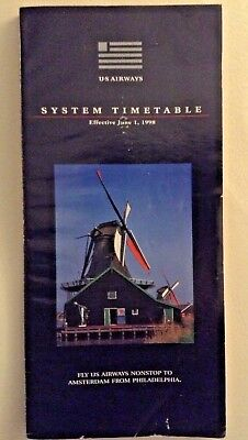 US Airways System Airline Timetable June 1, 1998