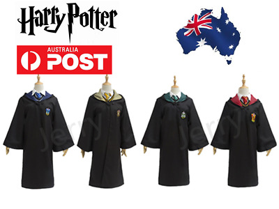 Book Week Harry Potter Gryffindor Slytherin Robe Adult Fancy Dress Party Costume