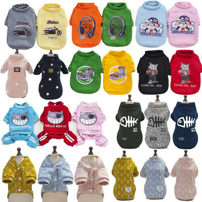 Winter Autumn Dog Pet Clothes Small Puppy Warm Sweatshirt Jacket Apparel Coats