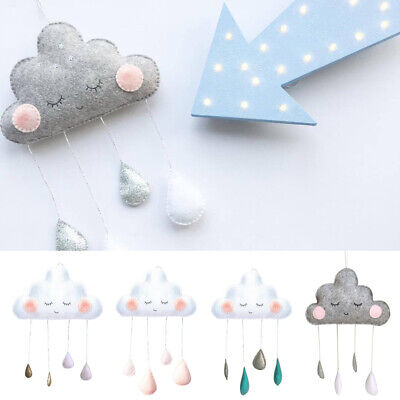 Cloud Water Drop Felt Wall Hanging Ornament Baby Nursery Room Decor Gift Healthy