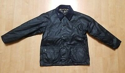New With Tags Men's Barbour Bedale Waxed Jacket Size 40 Navy Made in UK