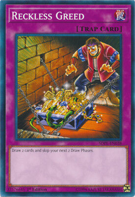 Yugioh! Reckless Greed - SDPL-EN038 - Common - 1st Edition Near Mint, English