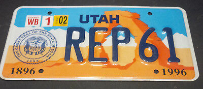 2002 Utah House Of Representatives Rep-61 License Plate