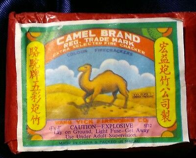 Camel Brand Firecracker Pack Label.