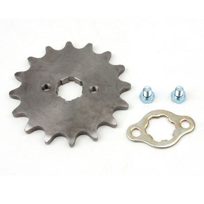 520 15T Front Sprocket with Retainer Plate for Dirt Pit Bike ATV Go-kart