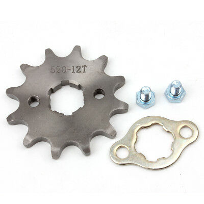 520 12T Front Sprocket with Retainer Plate for Dirt Pit Bike ATV Go-kart